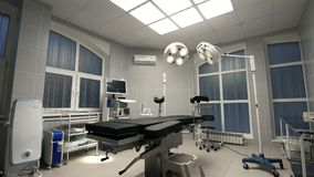Background of modern operating room at hospital. Clinic Stock Images