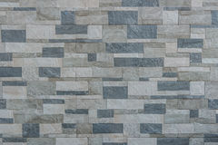Background of Modern Slate stone Brick Wall Surfaced for design Royalty Free Stock Photography