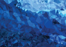 Background modern texture triangle geometry abstract strong blue Royalty Free Stock Images
