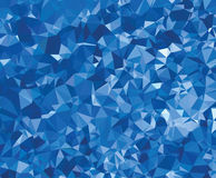Background modern texture triangle geometry blue wrinkly paper Royalty Free Stock Photo