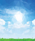Background modern texture triangle geometry fresh nature painting Stock Images