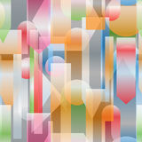 Background in modernist style cubism Royalty Free Stock Images