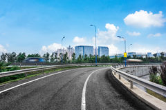 The background of the modernization city road Royalty Free Stock Photos