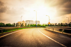 The background of the modernization city road Stock Photo