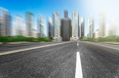 The background of the modernization city road Stock Photography