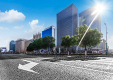 The background of the modernization city road Stock Images
