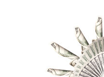 Background with money. American hundred dollar bills royalty free stock photos