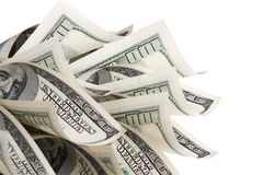 Background with money. American hundred dollar bills stock photos