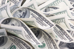 Background with money. American hundred dollar bills royalty free stock photography