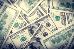Background with money american bills Stock Photos