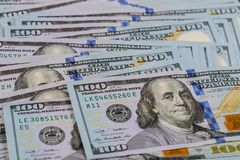 Background with money american dollar bills Royalty Free Stock Images