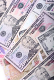 Background with money american dollar bills Stock Image