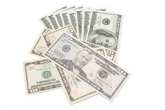 Background with money. american dollars isolated on white Stock Photo
