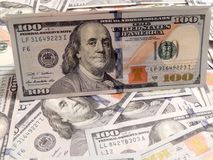 Background with money american hundred dollar Royalty Free Stock Photography