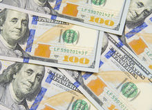 Background with money american hundred dollar bills Stock Images