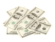 Background of money cash Dollars for business closeup isolated Royalty Free Stock Images