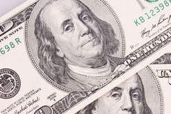 Background of money (close up of dollar bill) Royalty Free Stock Image