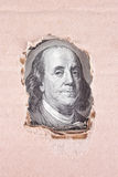 Background of money (close up of dollar bill) Stock Photography