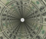 Background of money 3d render. Background of money in the form of a pipe 3d render vector illustration