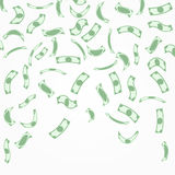 Background with money falling from above Royalty Free Stock Image