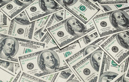 Background with money hundred Stock Photography