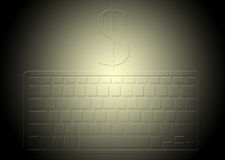 Background of money and job Royalty Free Stock Photos