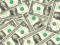 Background of money pile 1 USA dollars Stock Photography