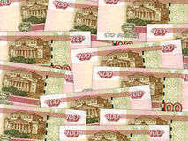 Background of money pile 100 russian rouble bills Royalty Free Stock Images