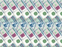 Background of money pile 1000 russian rouble Royalty Free Stock Image