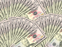 Background of money pile 50 USA dollars Royalty Free Stock Photos