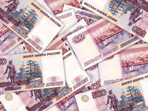 Background of money pile 500 russian rouble Royalty Free Stock Photo