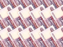 Background of money pile 500 russian rouble bills Royalty Free Stock Images