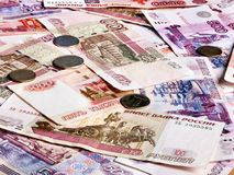 Background of  money. Rouble. Royalty Free Stock Photos