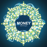 Background with money Stock Images