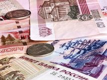 Background of money .Russian rouble. Stock Image