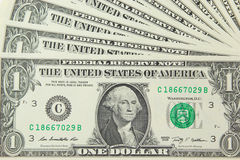 Background with money US 1 dollar bills Stock Image
