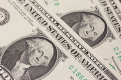 Background with money US dollar bills (1$) Royalty Free Stock Photos
