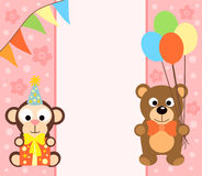 Background  with monkey and bear Royalty Free Stock Photography