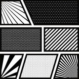 Background monochrome abstract in pop art variety figures Stock Photos