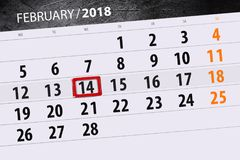 Background Daily Month  Business Calendar Scheduler 2018 February 14. Background Daily Month  Calendar Scheduler 2018 February 14 Stock Images