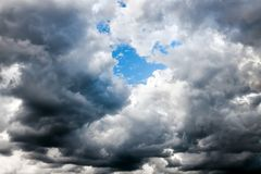 Background from moody sky and dark storm clouds. Abstract background from moody sky and dark storm clouds. surface texture thunderstorm sky royalty free stock image