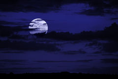 Background with moon Stock Image
