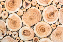 Background of mosaic birch wood tree. Royalty Free Stock Photos