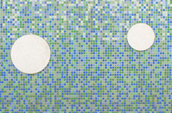 Background of mosaic brick and circle. Royalty Free Stock Image