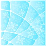 Background mosaic with snowflakes Stock Photo