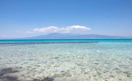 Background of the most beautiful Mediterranean beach at Crisi Island, Crete Royalty Free Stock Photography