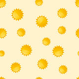 Background with the motif of suns Stock Images