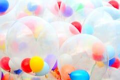 Background of motley balloons. Close-up. Outdoor photography Stock Photos