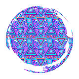 Background of motley multicolored triangles Royalty Free Stock Image