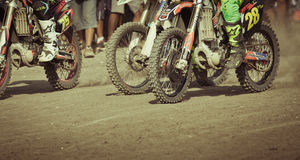 Background of motocross in Bali Stock Image